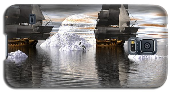 Galaxy S5 Case featuring the digital art Hudson Bay Ships by Claude McCoy