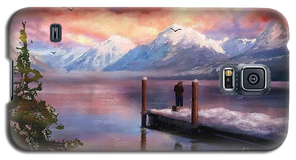 Hudson Bay Winter Fishing Galaxy S5 Case by Judy Filarecki