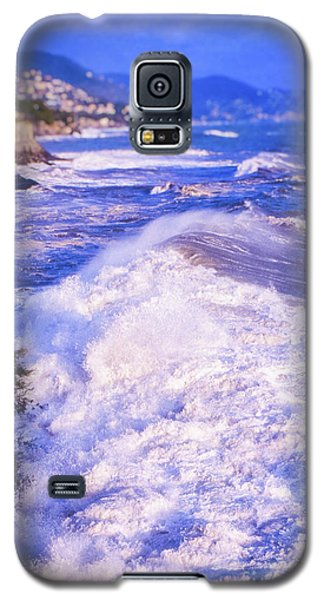 Galaxy S5 Case featuring the photograph Huge Wave In Ligurian Sea by Silvia Ganora