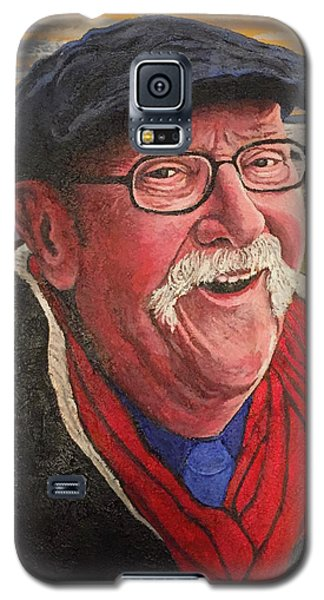 Galaxy S5 Case featuring the painting Hugh Hanson Davidson by Tom Roderick