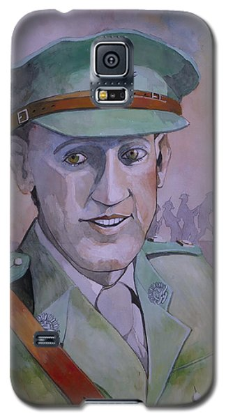Galaxy S5 Case featuring the painting Hugo Throssel Vc by Ray Agius