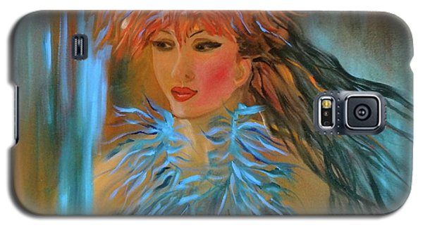 Hula In Turquoise Galaxy S5 Case by Jenny Lee