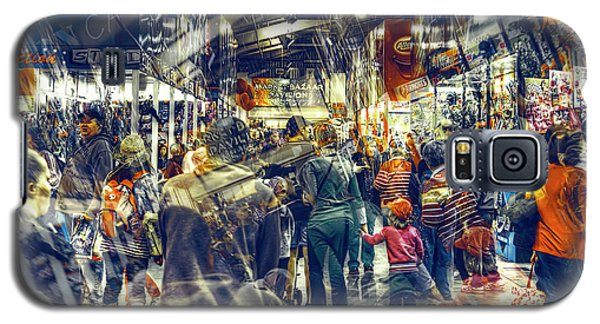 Galaxy S5 Case featuring the photograph Human Traffic by Wayne Sherriff