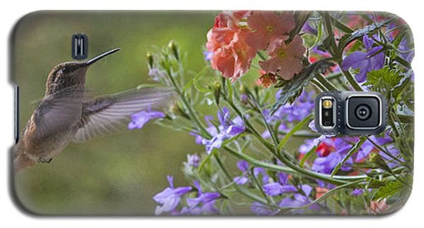 Hummer With Peach Geranium Galaxy S5 Case