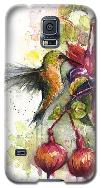 Hummingbird And Fuchsia Galaxy S5 Case