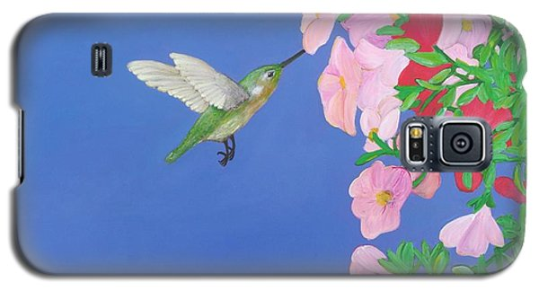 Hummingbird And Petunias Galaxy S5 Case