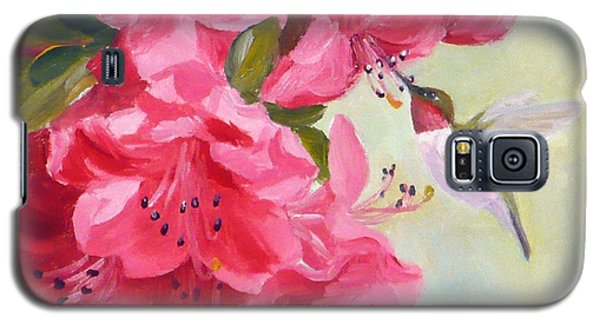 Hummingbird And Pink Azaleas Galaxy S5 Case