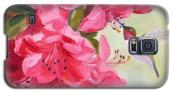 Hummingbird And Pink Azaleas Galaxy S5 Case