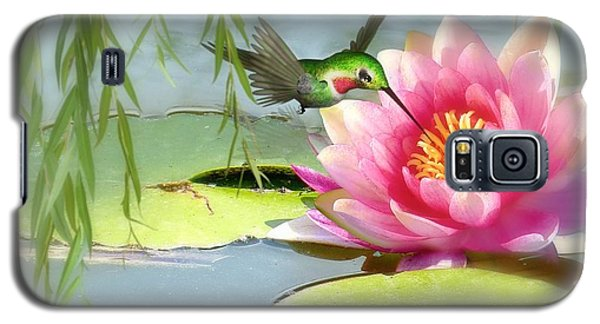 Hummingbird And Water Lily Galaxy S5 Case