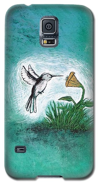 Galaxy S5 Case featuring the painting Hummingbird by Antonio Romero