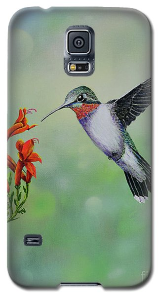 Galaxy S5 Case featuring the painting Hummingbird Beauty by Mary Scott