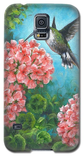 Galaxy S5 Case featuring the painting Hummingbird Heaven by Kim Lockman