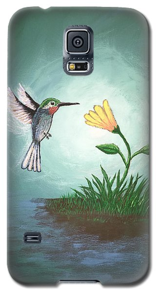 Galaxy S5 Case featuring the painting Hummingbird II by Antonio Romero