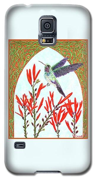 Hummingbird In Opening Galaxy S5 Case by Lise Winne