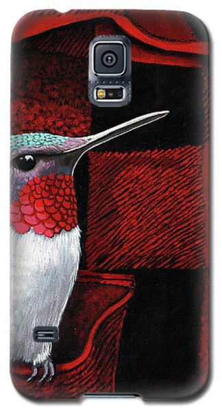 Galaxy S5 Case featuring the painting Hummingbird Memories by Linda Apple