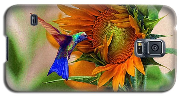 Hummingbird On Sunflower Galaxy S5 Case