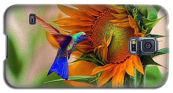 Hummingbird On Sunflower Galaxy S5 Case