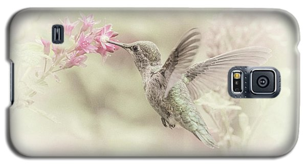Galaxy S5 Case featuring the photograph Hummingbird Softly by Angie Vogel