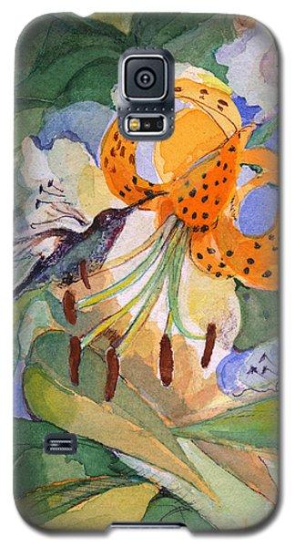 Hummingbird With Flowers Galaxy S5 Case