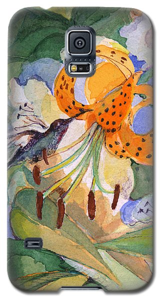Hummingbird With Flowers Galaxy S5 Case