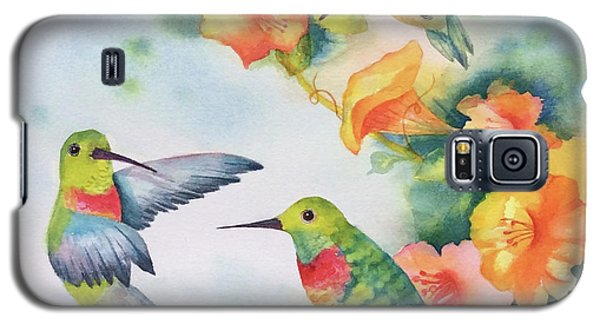 Hummingbirds With Orange Flowers Galaxy S5 Case