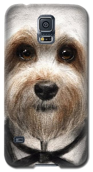 Humorous Dressed Dog Painting By Galaxy S5 Case