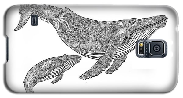 Humpback And Calf Galaxy S5 Case by Carol Lynne