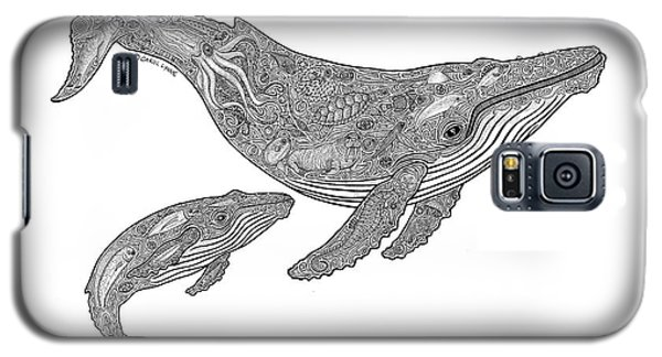 Whale Galaxy S5 Case - Humpback And Calf by Carol Lynne