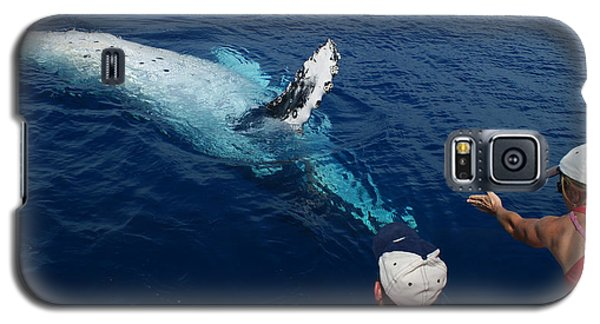 Humpback Whale Reaching Out Galaxy S5 Case by Gary Crockett