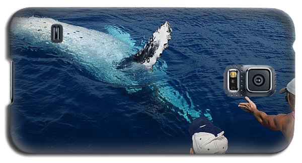 Galaxy S5 Case featuring the photograph Humpback Whale Reaching Out by Gary Crockett