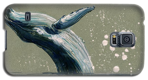 Whale Galaxy S5 Case - Humpback Whale Swimming by Juan  Bosco