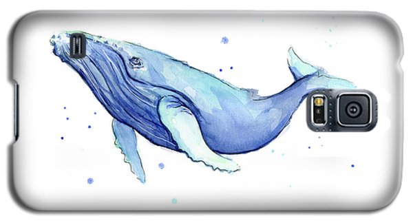 Whale Galaxy S5 Case - Humpback Whale Watercolor by Olga Shvartsur