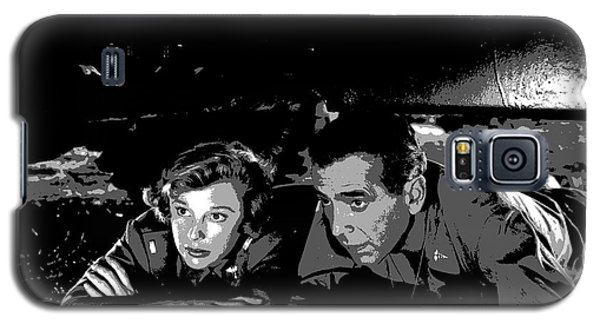 Galaxy S5 Case featuring the mixed media Humphrey Bogart June Allyson by Charles Shoup