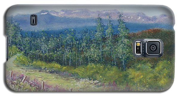 Galaxy S5 Case featuring the painting Summer Flowers On Hungry Hill by Stanza Widen