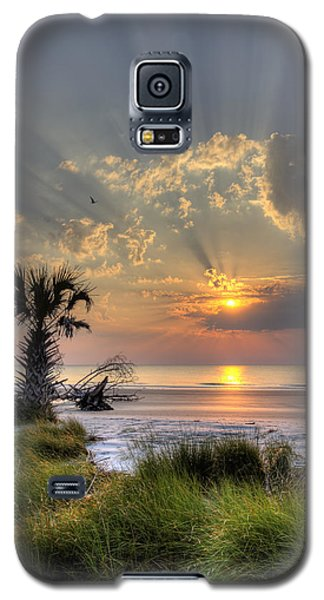 Hunting Island Sc Sunrise Palm Galaxy S5 Case