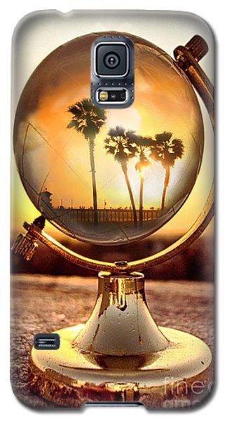 Huntington Beach Globe Galaxy S5 Case by Natalie Ortiz