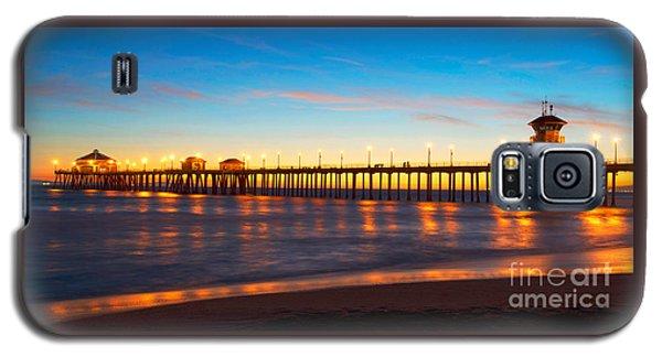Huntington Beach Pier - Twilight Galaxy S5 Case by Jim Carrell