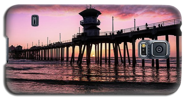 Huntington Pier At Sunset 2 Galaxy S5 Case