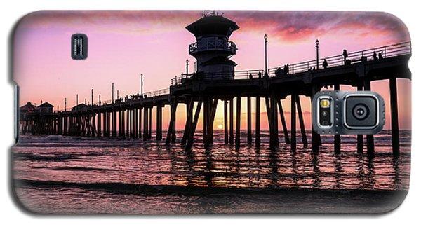 Huntington Pier At Sunset 2 Galaxy S5 Case