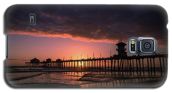 Huntington Pier At Sunset Galaxy S5 Case