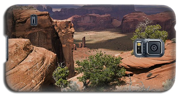Hunt's Mesa And Monument Valley Galaxy S5 Case