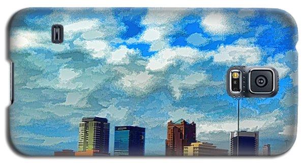Huntsville Alabama Skyline Abstract Art Galaxy S5 Case by Lesa Fine