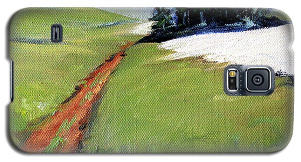 Galaxy S5 Case featuring the painting Hurricane Hill by Nancy Merkle