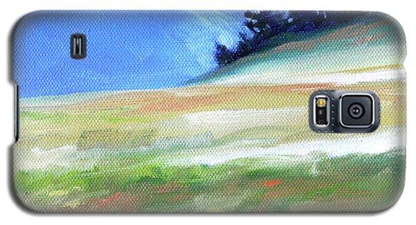 Galaxy S5 Case featuring the painting Hurricane Ridge by Nancy Merkle