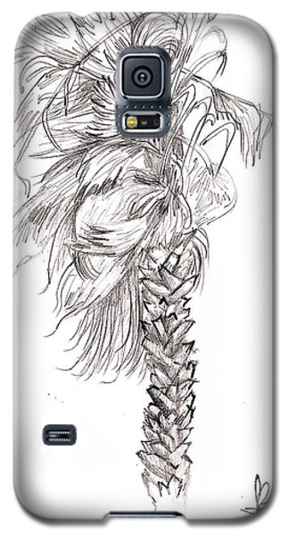 Galaxy S5 Case featuring the drawing Hurrracane Winds by Fanny Diaz