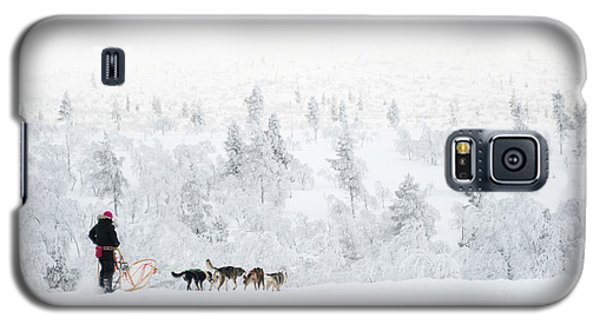 Galaxy S5 Case featuring the photograph Husky Safari by Delphimages Photo Creations