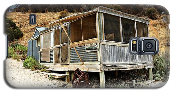 Galaxy S5 Case featuring the photograph Hut At Western River Cove by Stephen Mitchell