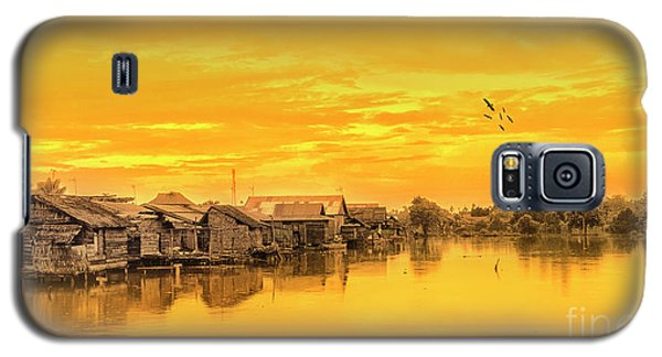 Galaxy S5 Case featuring the photograph Huts Yellow by Charuhas Images