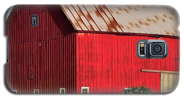 Hwy 47 Red Barn 21x21 Galaxy S5 Case