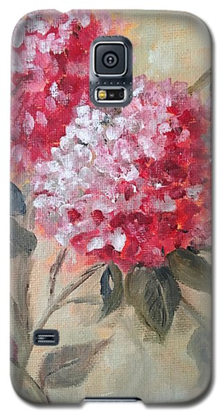 Galaxy S5 Case featuring the painting Hydranga by Sharon Schultz